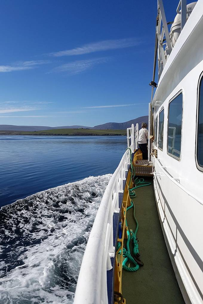 Calm waters on the way to Hoy