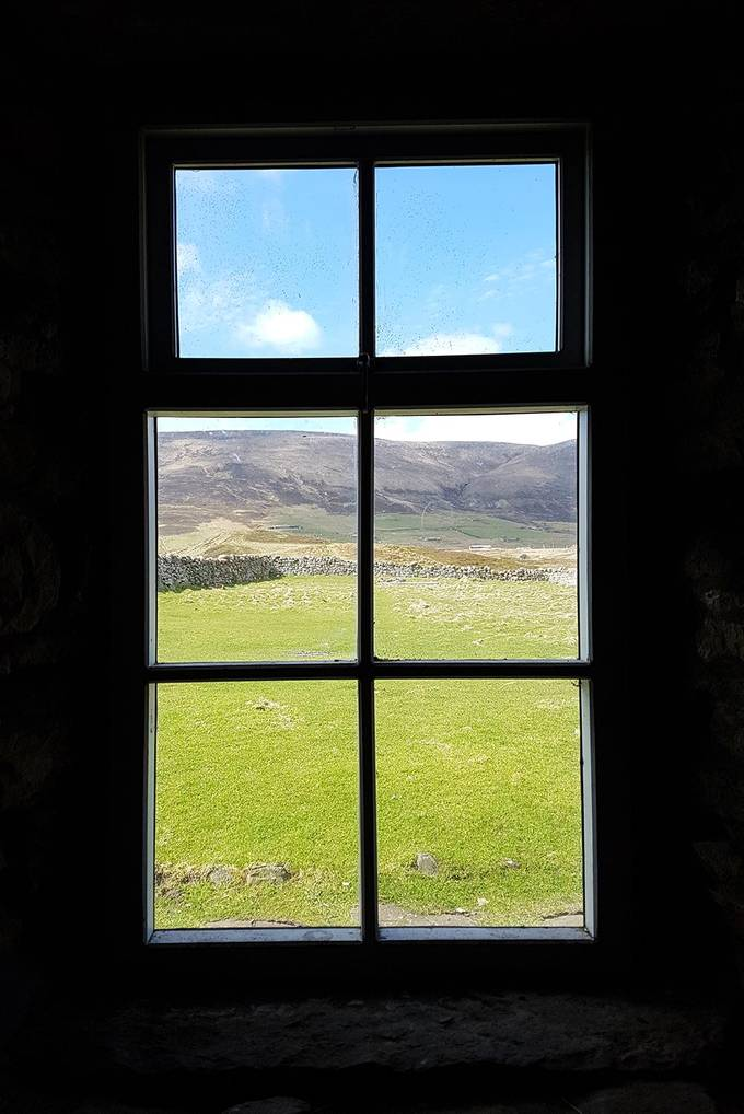 The view of the countryside from the bothy